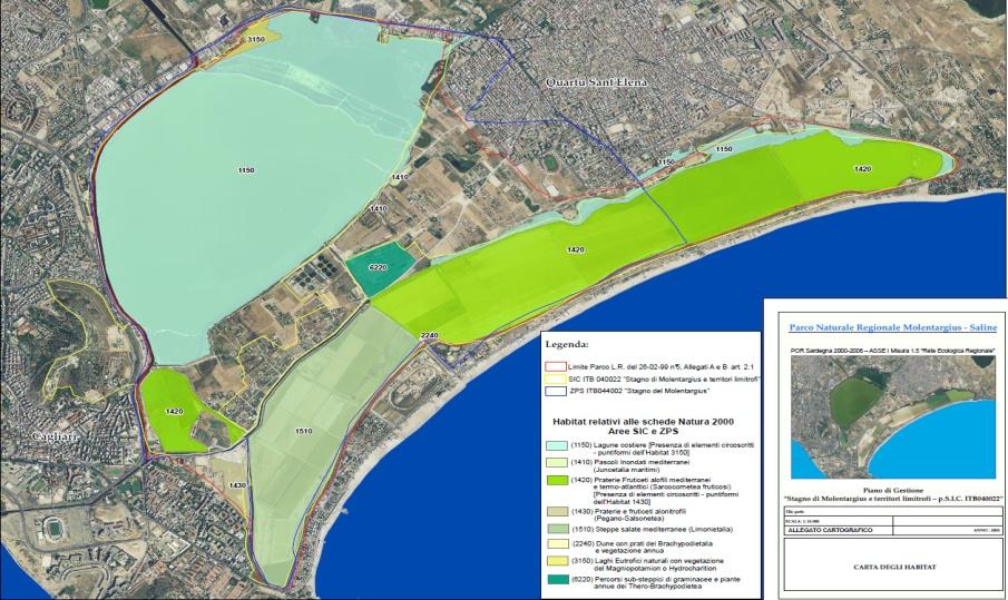 Localizzazione degli habitat all